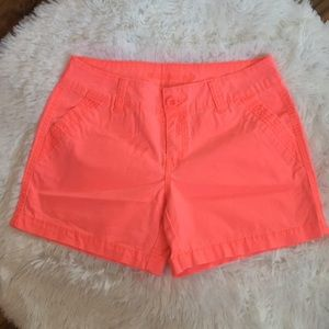 """Maurices Bright Coral Pink 3"""" Shorts Size 5/6"""